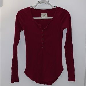 Abercrombie and Fitch Red Long Sleeve